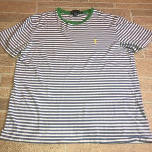 Polo by Ralph Lauren Striped Short Sleeve Top L